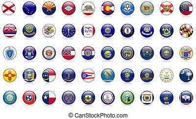 estados unidos de américa, estado, banderas