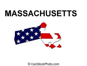 estados unidos de américa, estado, de, massachusetts, en,...