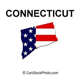estados unidos de américa, estado, rayas, connecticut,...