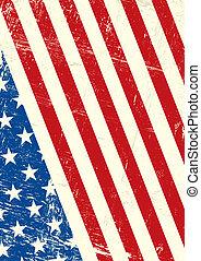 estados unidos de américa, grunge, bandera