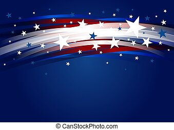 estados unidos de américa, julio, vector, estrella, 4, ...