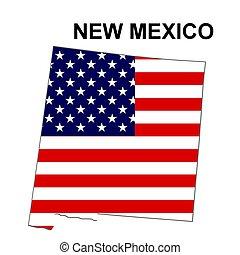 estados unidos de américa, méxico, rayas, estado, diseño,...