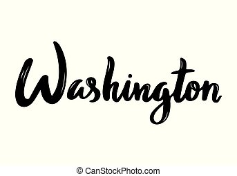 estados unidos de américa, manuscrito, washington, caligrafía, nombre, capital.