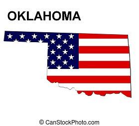 estados unidos de américa, oklahoma, rayas, estado, diseño,...