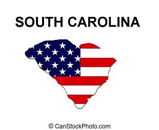 estados unidos de américa, rayas, estado, diseño, estrellas, carolina del sur