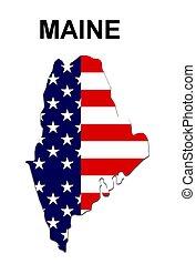 estados unidos de américa, rayas, estado, diseño, estrellas, maine