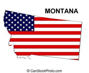 estados unidos de américa, rayas, estado, montana, diseño,...