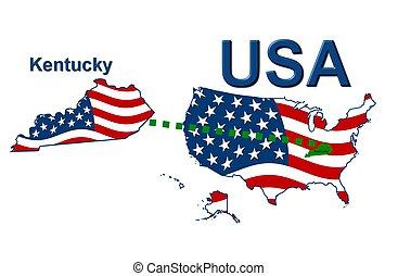 estados unidos de américa, rayas, kentucky, estado, diseño,...