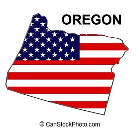 estados unidos de américa, rayas, oregón, estado, diseño, estrellas