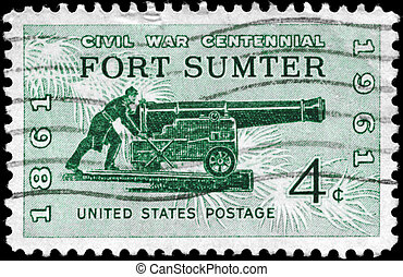 estados unidos de américa, -, sumter, 1961, hacia, fortaleza