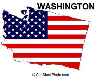 estados unidos de américa, washington, rayas, estado,...