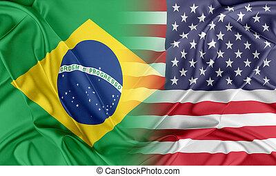 estados unidos de américa, y, brasil