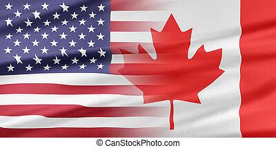 estados unidos de américa, y, canadá