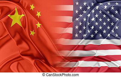 estados unidos de américa, y, china