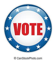 estados unidos, elección, voto, button.