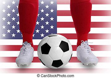 estados unidos, jogador futebol