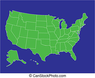 estados unidos, mapa, 02