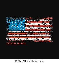 Estados unidos t-shirt and apparel design with grunge...