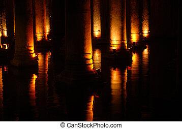 estambul, romano, cisterna