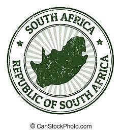 estampilla, áfrica, sur
