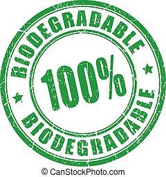 estampilla, 100, biodegradable