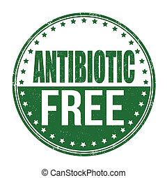 estampilla, antibiótico, libre