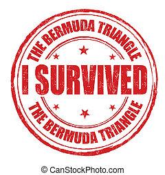 estampilla, bermuda, triángulo, survived