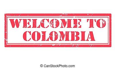 estampilla, bienvenida, colombia