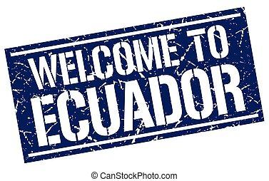 estampilla, bienvenida, ecuador