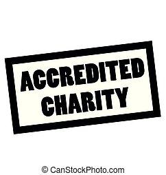 estampilla, blanco, accredited, caridad