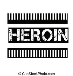 estampilla, blanco, heroína