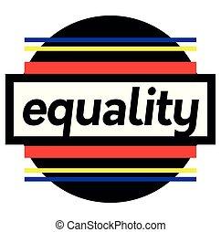 estampilla, blanco, igualdad