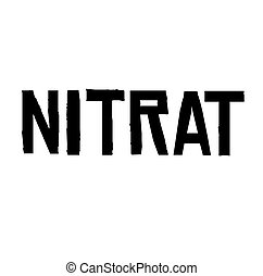estampilla, blanco, nitrates