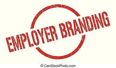 estampilla, branding, empleador