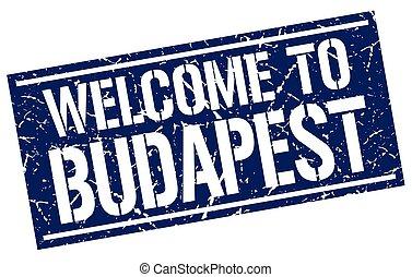 estampilla, budapest, bienvenida
