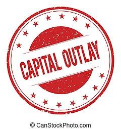 estampilla, capital-outlay, señal