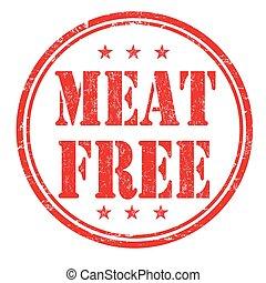 estampilla, carne, libre