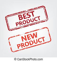 estampilla, caucho, producto, mejor, nuevo