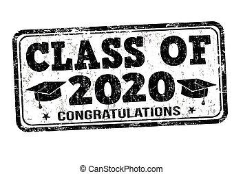 estampilla, clase, 2020