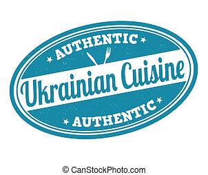 estampilla, cocina, ucranio