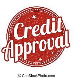 estampilla, credito, aprobación