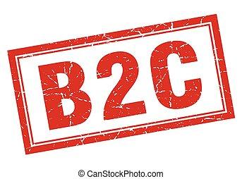 estampilla, cuadrado, b2c