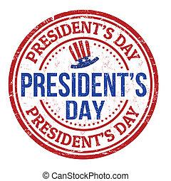 estampilla, día presidentes