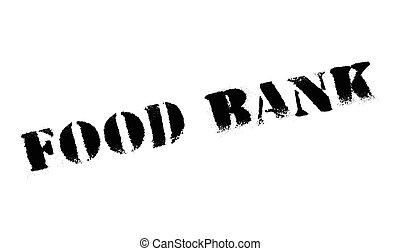 estampilla del alimento, banco