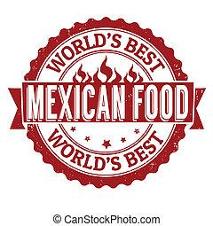 estampilla del alimento, mexicano