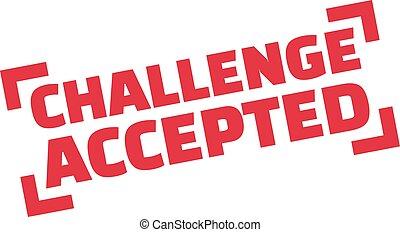 estampilla, desafío, aceptado