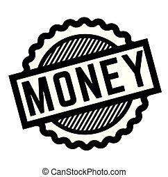 estampilla, dinero, negro