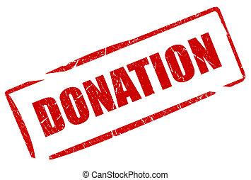 estampilla, donación