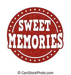 estampilla, dulce, memorias