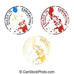 estampilla, filipinas, hecho